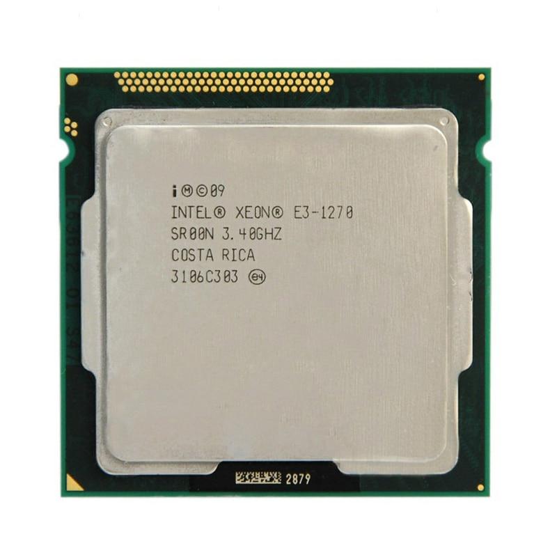 Intel Xeon E3-1270 E3 1270 E3-1270 3.4GHz LGA1155 8MB Quad Core CPU Processor E3 1270 SR00N Free Shipping