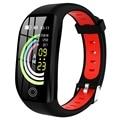 ABHU-Neue F21 1,14 Zoll HD Sport Fitness Wasserdicht Blutdruck Smart Armband GPS Tracker Herz Rate Schrittzähler Schlaf monitor