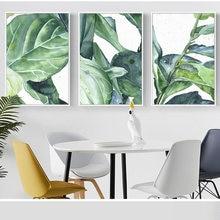 Скандинавский Стиль тропический плакат растений воды Цвет зеленые