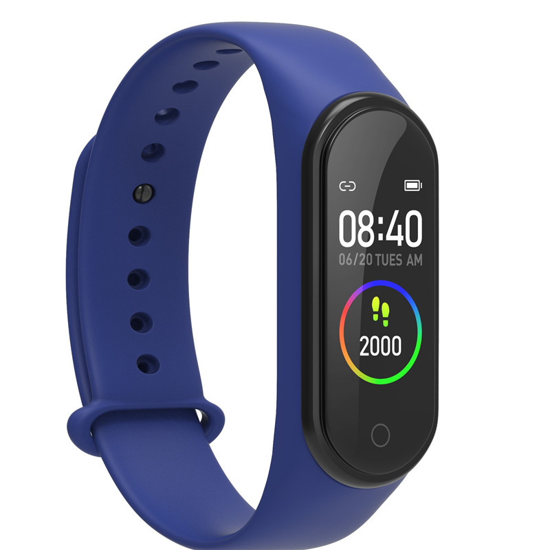 GIAUSA Smart Bracelet M4 Plus Blood Pressure Heart Rate Monitor Watch Sport Fitness Tracker Smartband for Iphone Xiaomi Band 3 4 image