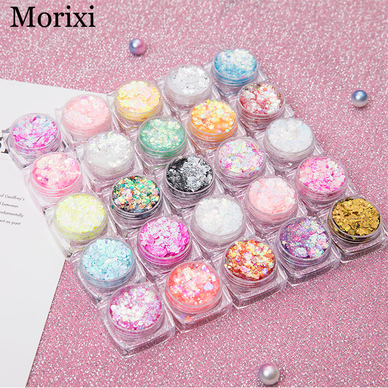 26 Colors Glitter Eyeshadow Powder Rainbow Gold Silver Pink Flake Long Lasting Waterproof Face Makeup Seuqins Gel AM082