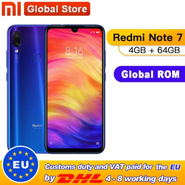 """הגלובלי ROM Xiaomi Redmi הערה 7 4GB 64GB טלפון Snapdragon 660 אוקטה Core 4000mAh 6.3 """"2340*1080 48 + 13MP המצלמה Smartphone"""