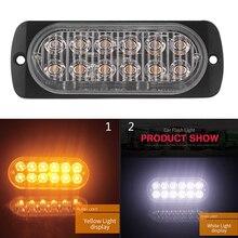 цена на Car Flash Truck Light Bar Emergency Sign Hazard Warning Strobe Amber Auto Lights