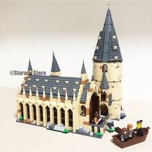 16052 16054 16029 16030 16058 Совместимые модели legoing 75945 строительные наборы замок зал блоки кирпичи игрушки Рождественский подарок