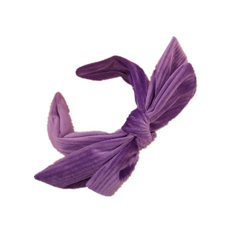 Winter Vintage Thick double big Bow Headband Women Girls Hair Head Hoop Bands Accessories For Girl Hairbands Fashion Headwear in Women 39 s Hair Accessories from Apparel Accessories