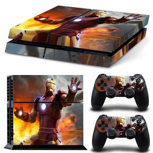 Image 2 - PS 4 Pro Marvel Skin Sticker Decal Vinyl for Sony Playstation 4 Pro Console and 2 Controllers for Ps4 Pro Slim Stickers Ps4pro