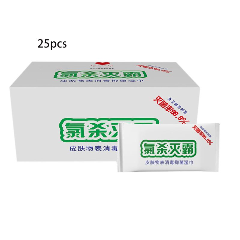 Single Piece Chlorine Containing Disinfectant Wipes
