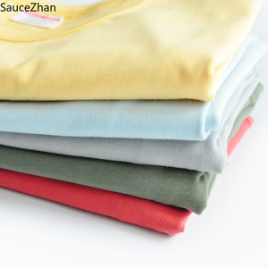 Image 2 - SauceZhan Three needle Reinforcement Mens Summer Cotton T shirt O Neck Solid T shirts for Man Thick Soft  Not Deformed