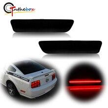 Gtinthebox – feu de position latéral arrière pour Ford Mustang 2005 – 2009, 12V, LED rouge fumé, lentille rouge