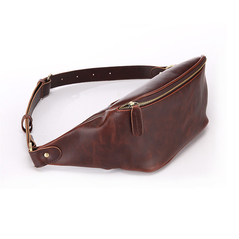 American New Fashion Vintage Men's Cheat Bag PU Leather Crossbody Bag Shoulder Bags Travel Outdoor Sports Waist Bag Dropshipping