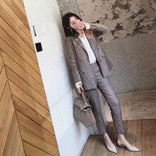 Women pant suits formal new style women's fashion solid color temperament commut