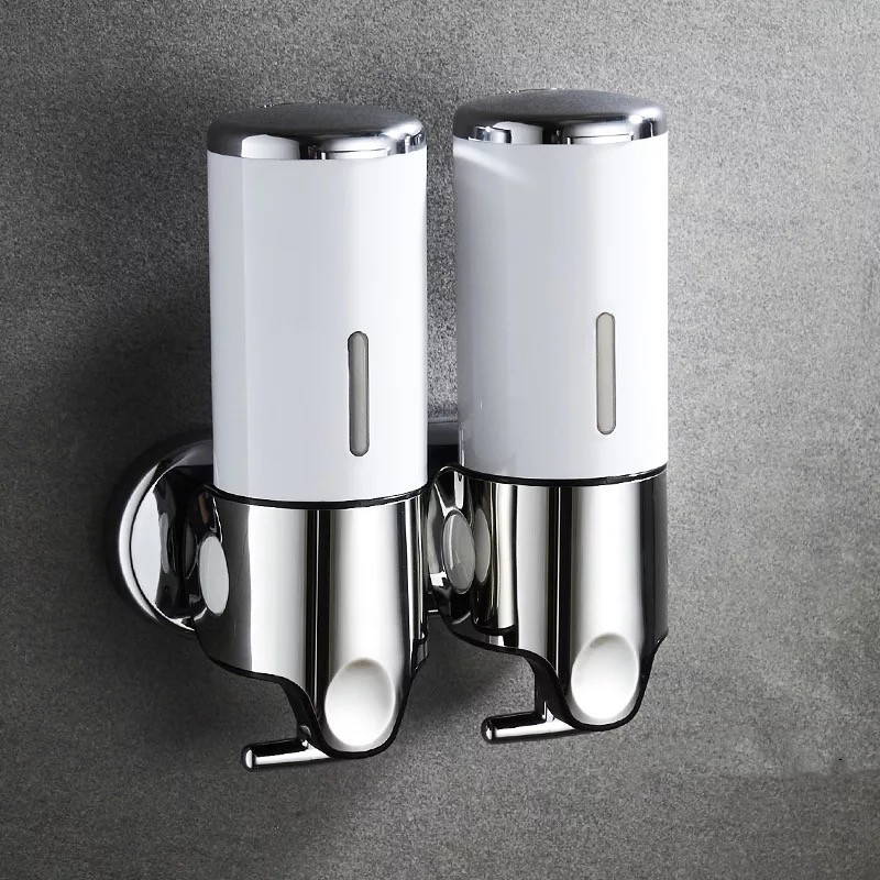 Hd24dc2d11ee749d9948740e71b74ab12w LIUYUE Liquid Soap Dispenser 500 ml Bathroom Wall Mounted Plastic Shampoo Liquid Dispenser Hand Wash Kitchen Accessories