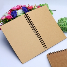 Reeves Retro Spiral Bound Coil Sketch Book Blank Notebook Kraft Sketching Paper