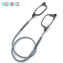 Gafas de lectura magnéticas de alto grado TR para hombres y mujeres, lentes de lectura con absorción magnética colgante para cuello, portátiles