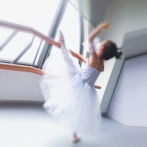 Image 3 - Geel Ballet Tutu Professionele Kind Lange Tulle Zacht Roze Romantische Ballet Tutu S Voor Meisjes Blauw Ballerina Jurk Meisjes Dans