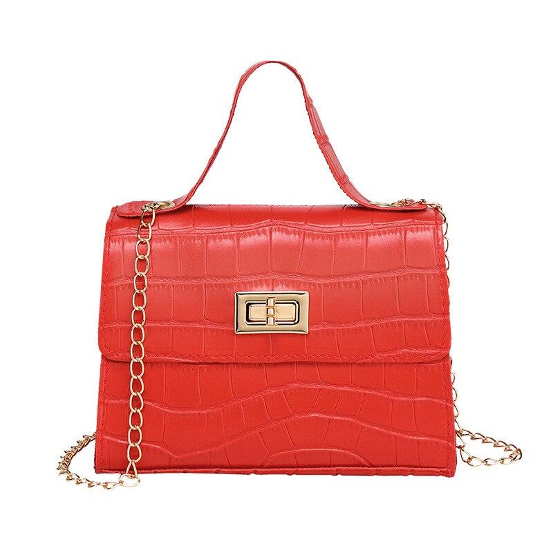 2020 Women Mini Small Square Pack Shoulder Bag Crocodile Fashion Designer Messenger Crossbody Bag Clutch Wallet Handbags Sac
