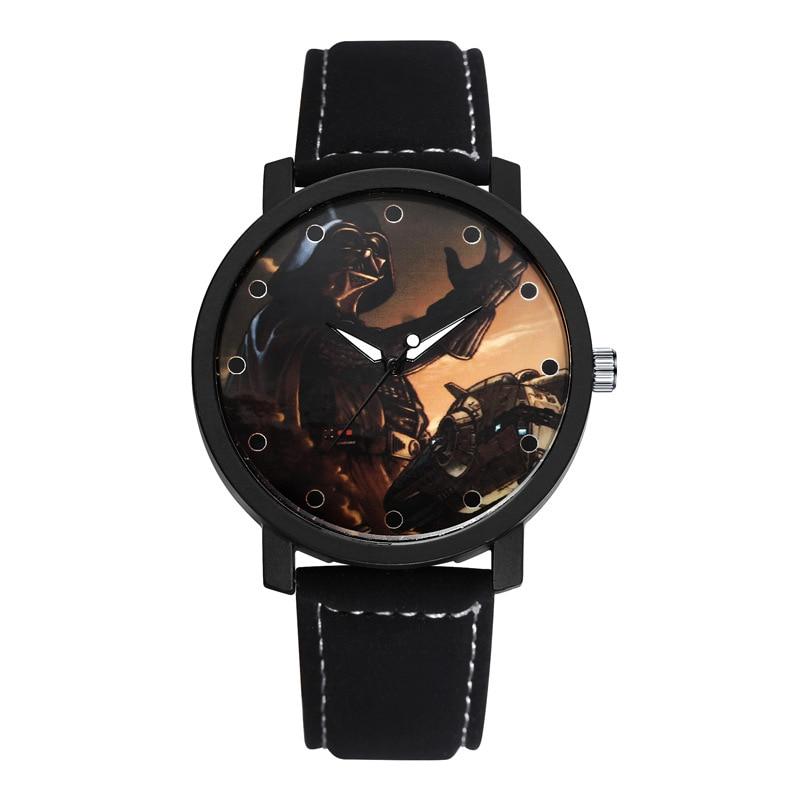 Hot Sell Fashion Men Quartz Watch Star Wars Analogy Leather Unique Men Watch Wristwatches Hombre Clock Relogio Masculino  C006