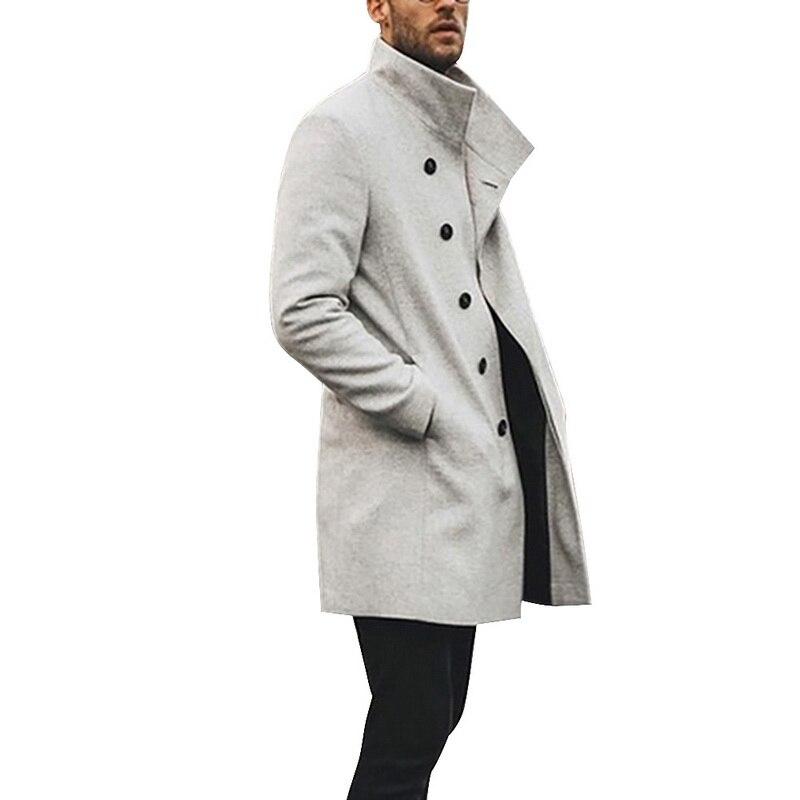 HEFLASHOR Mens Trench Coat 2019 Fashion Designer Long Windbreaker Autumn Winter Single Breasted Windproof Overcoat Plus Innrech Market.com