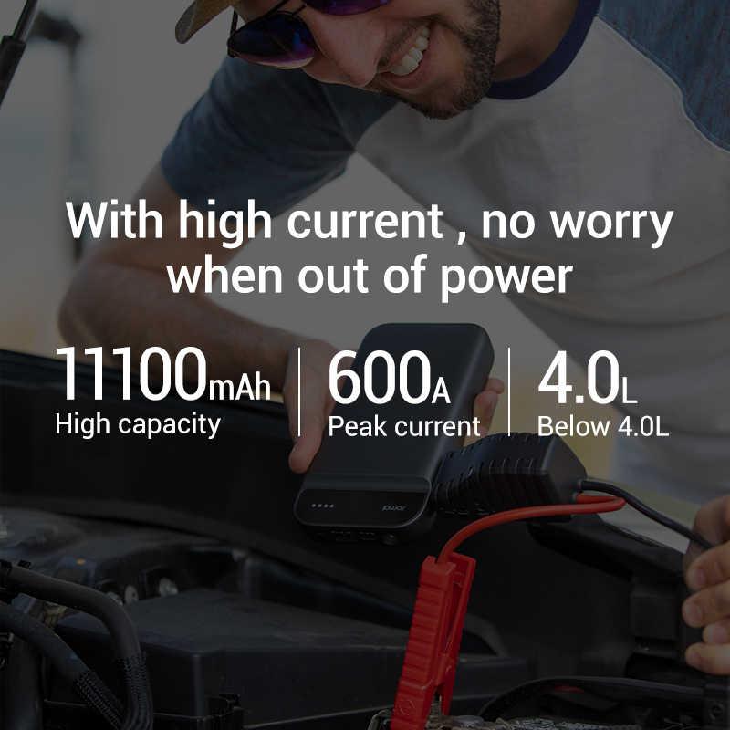 New Arrival 70mai urządzenie do uruchamiania awaryjnego samochodu Power Bank baterii 600A przenośny wzmacniacz do akumulatora samochodowego ładowarka 12V urządzenie zapłonowe rozrusznik samochodu