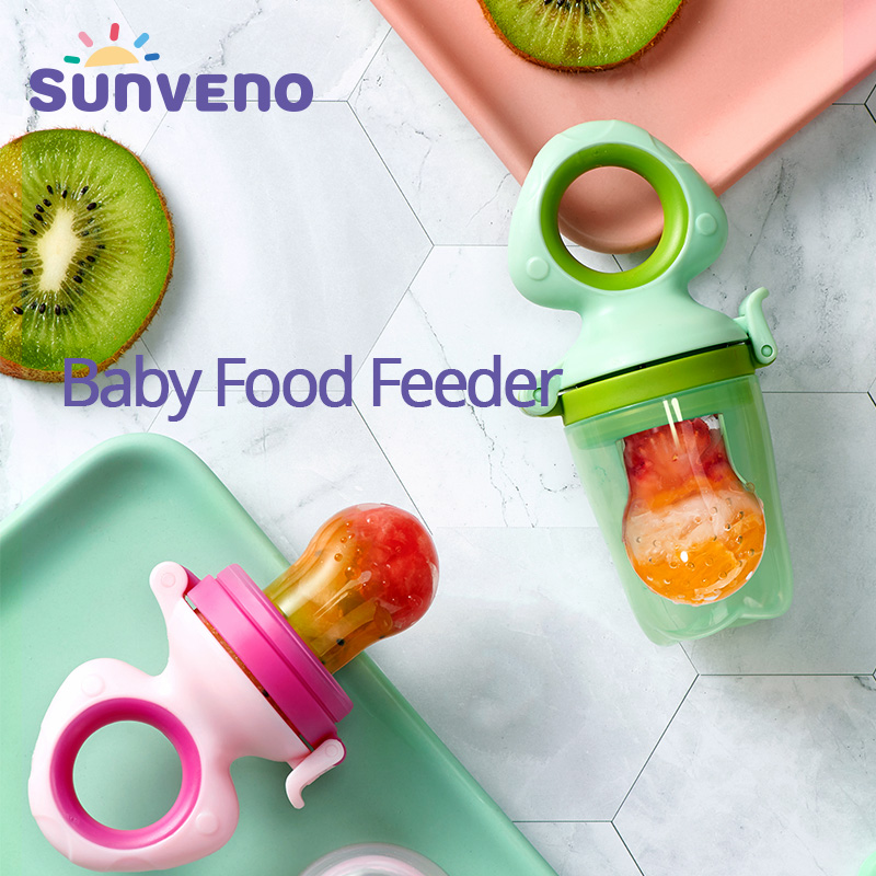Sunveno Baby Food Feeder Fruit Feeder Pacifier Infant Teething Toy Teether In Appetite Stimulating Silicone Pouches For Toddlers