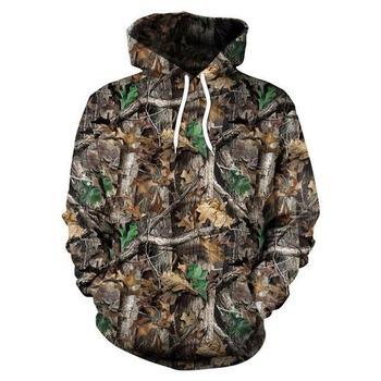 Φούτερ με κουκούλα με μοτίβο παραλλαγής φύλλα σφενδάμου