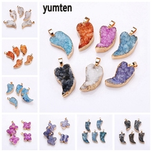 Yumten Plant Crystal Charm Semi-precious Stone Pendant Natural Necklace Fashion Harajuku Accessories Personalized Jewelry