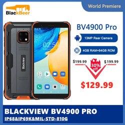 Blackview BV4900 Pro IP68 прочный смартфон Android 10 мобильного телефона Водонепроницаемый 4 Гб Оперативная память 64 Гб Встроенная память 5,7 дюймов 4G мобил...