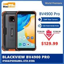 Blackview a BV4900 Pro IP68 Smartphone robusto Android 10 teléfono móvil a prueba de agua 4GB RAM 64GB ROM 5,7 pulgadas 4G teléfono móvil NFC 5580mAh