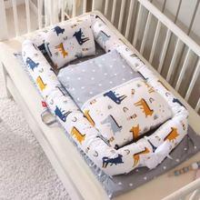 кровать детская Children Pressure-resistant Crib Medium Bed Newborn Folding Portable Bionic Beds BB Baby Travel Cot Furniture
