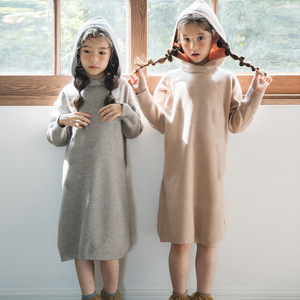 Image 2 - 2020 New Kid Sweater Dress Baby Princess Dress Girl Autumn Dress Children Dress Rabbit Hair Core Spun Yarn Toddler Sweater,#3469