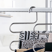 Shelf Pants Rack Scarf Coat Hanger Stainless Steel S-Type Clothes Holder Belt Tools Device Multifunctional