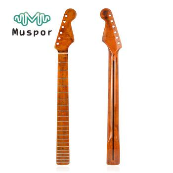 Muspor Vintage Electric Guitar Neck 21 Frets Fingerboard Maple Neck Replacement for ST Strat Guitar Parts Accessories disado 24 frets maple musical instruments accessories electric guitar neck maple fingerboard guitar parts