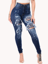 Jeans Women Sexy Ripped Slim Pencil Jeans Denim Trousers Vintage Office Bottom High Waist Pants ladies Push Up Calca jeans 3XL