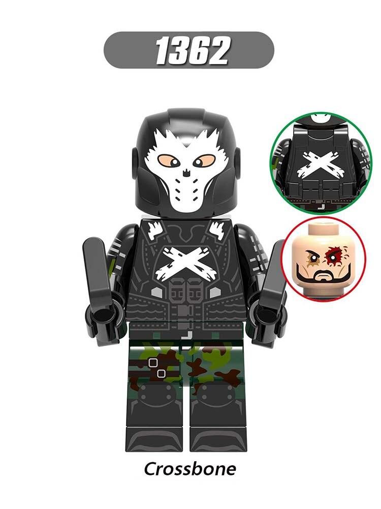 Single Sale LegoINGlys Super Heroes MiniFigured Bricks Crossbone Peter Parker Quicksilver Kingpin Building Blocks Diy Toy Xh1362