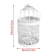 Hollow Holder Candlestick Tealight Hanging Lantern Bird Cage Vintage Wrought New