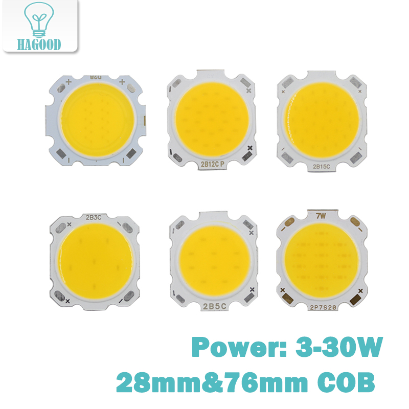10PCS 3W 5W 7W 10W 12W 15W 30W Led Cree LED COB Chip Bulb For Led Chip Led  DIY Floodlight Spotlights Fixtures Led Diode