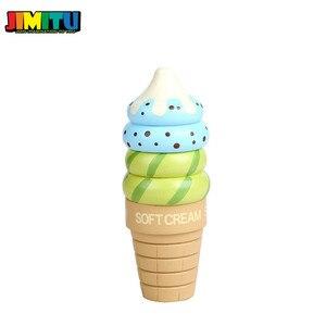 Image 3 - Jouets de cuisine en bois semblant jouer crème glacée jouets alimentaires jouer cadeau pour enfants cuisine magnétique vanille chocolat fraise