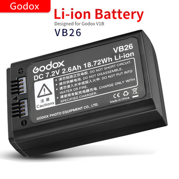 Godox Original V1 Flash Rechargeable Lithium Battery VB26 2600mAh for Round Head Speedlight V1C V1N V1S V1O V1F Speedlite