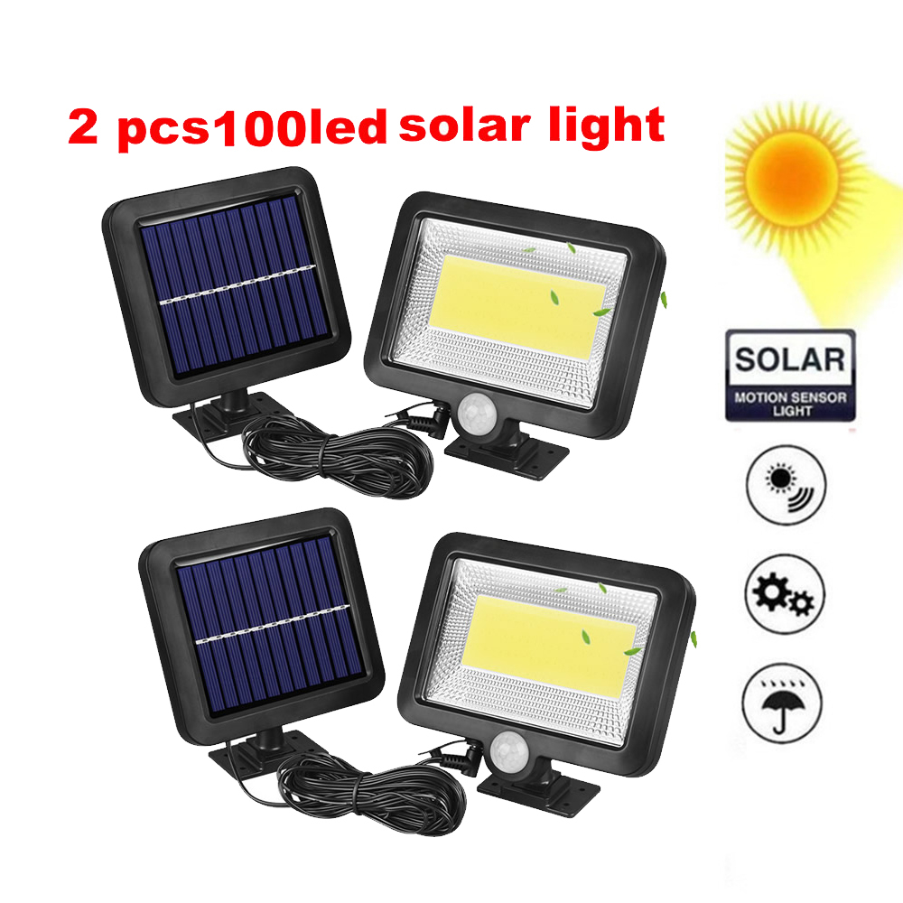 2/4pcs Solar Power PIR Motion Sensor Wall Light 100/56/30 LEDs Separable Outdoor IP65 Street Yard Path Home Garden Lamp Split Mo