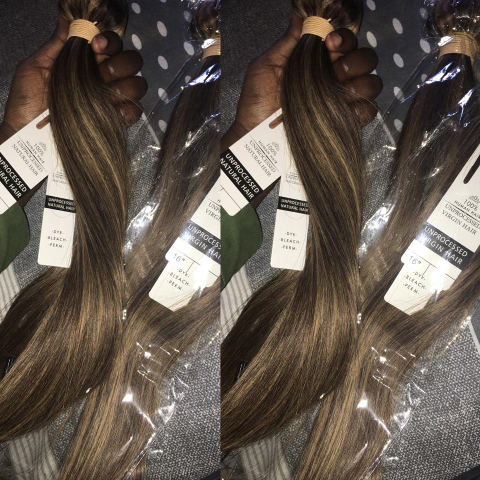 Highlight Bundles BEAUDIVA Straight   Ombre Bundles  P4-27 Brown Straight Hair Bundles with Highlights 5