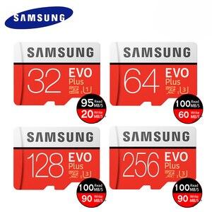 Cartão de memória tf micro sd classe 10, alta velocidade evo plus u3 32gb 128gb 256gb mini usb leitor de cartões 4 em 1 flash ps vita