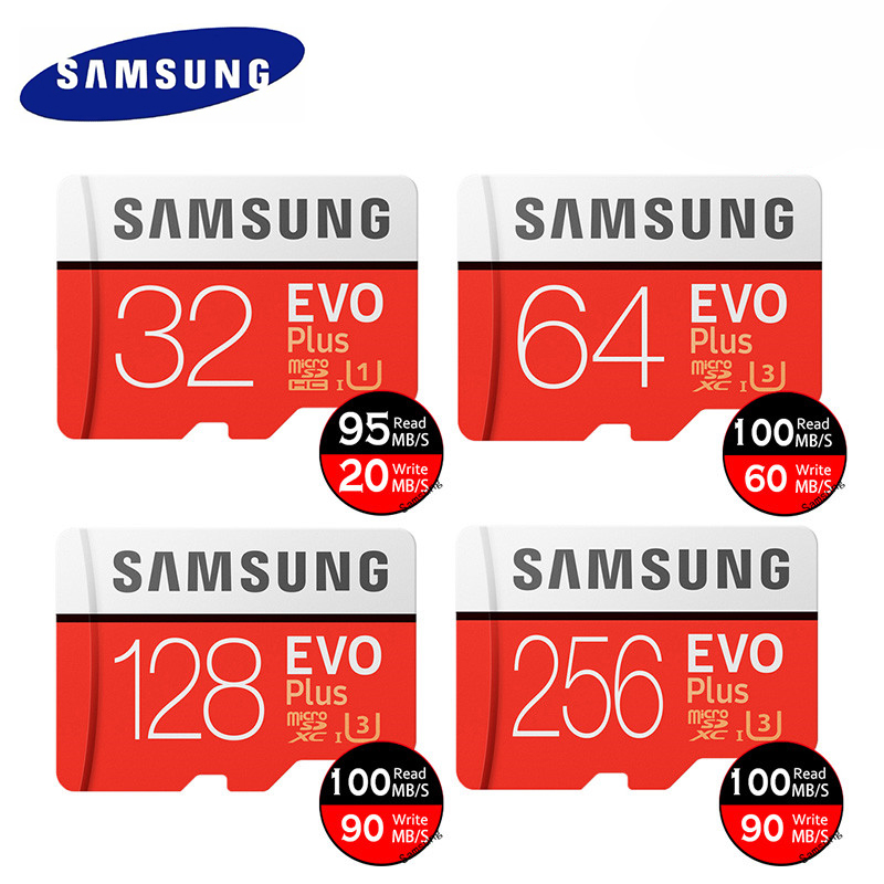 TF Memory Card Micro SD Class 10 High Speed EVO Plus U3 32GB 128GB 256GB Mini USB 4 In 1 Microsd Card Reader Flash PS Vita Game