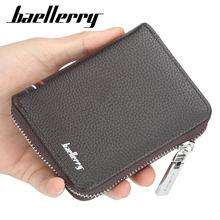Baellerry Однотонный мужской короткий черный кошелек из искусственной