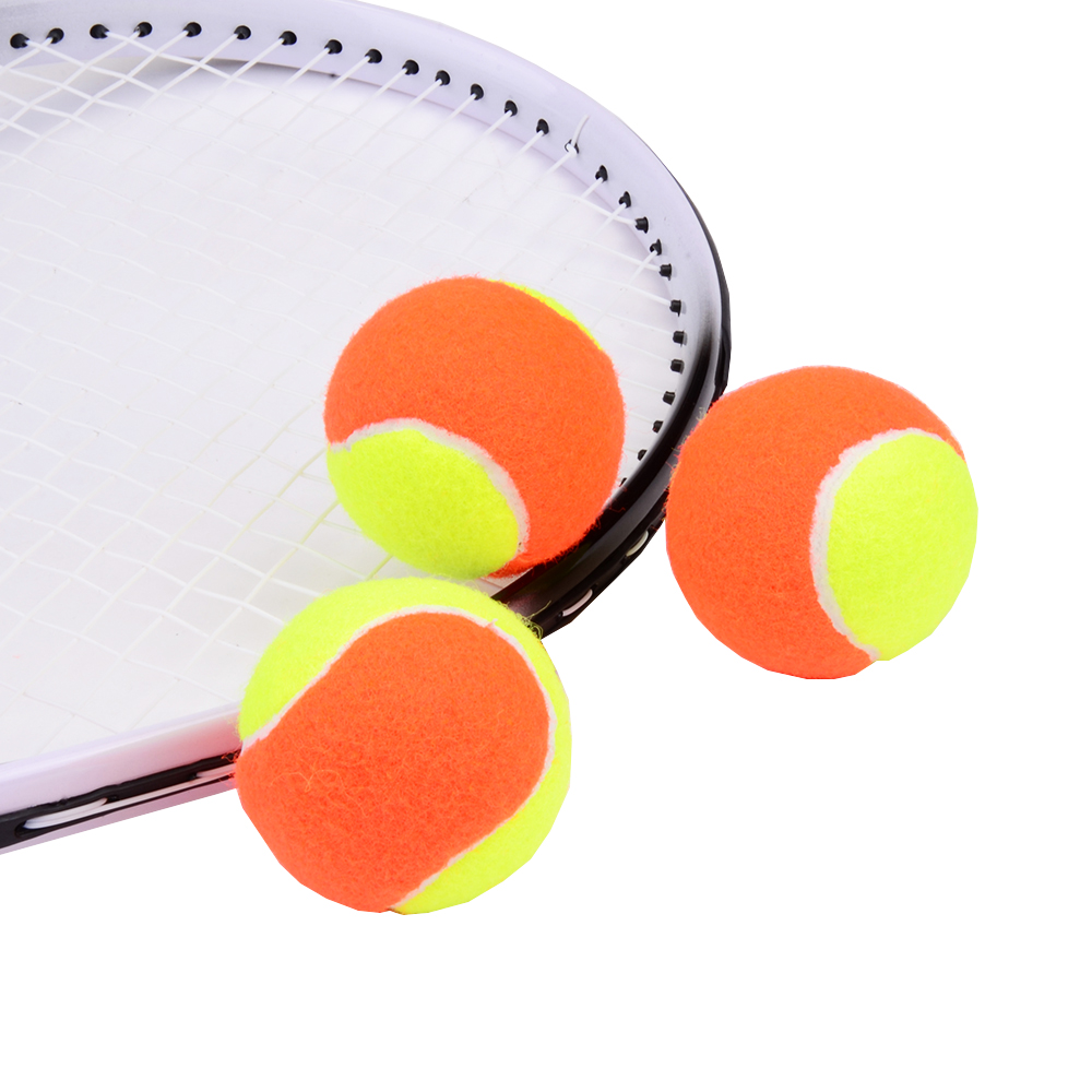 3 PCS Elastic Rubber Beach Tennis Balls Orange Yellow Sports Training Competition Tennis Ball