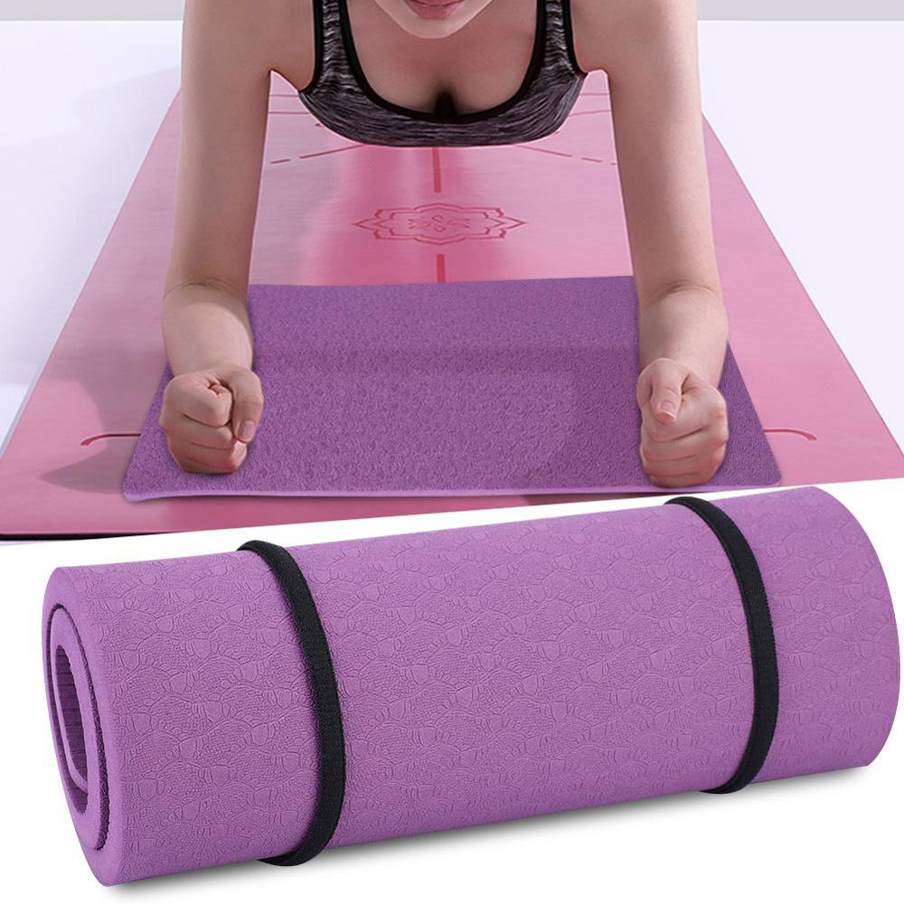 Yoga Knee Pad Tasteless Thickened  Yoga Mats Double Color Environment  Portable Small  Fitness Equipments 380 * 210 * 8mm