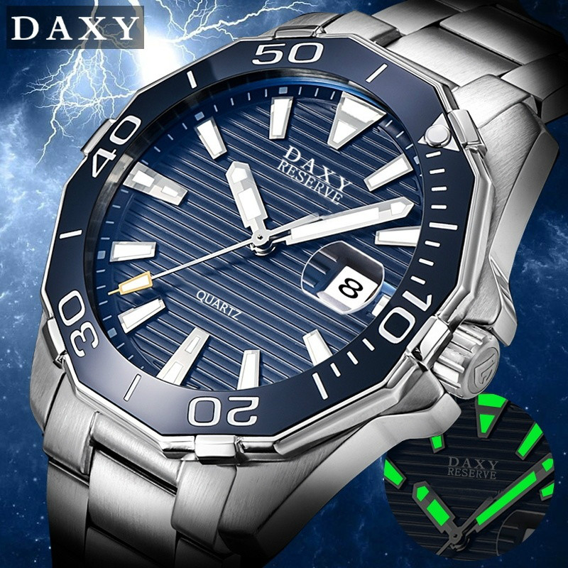 DAXY  Brand Luxury Men's Quartz Watches Waterproof Quartz Steel Stainless Watch Clock Men Watches Herren Uhren