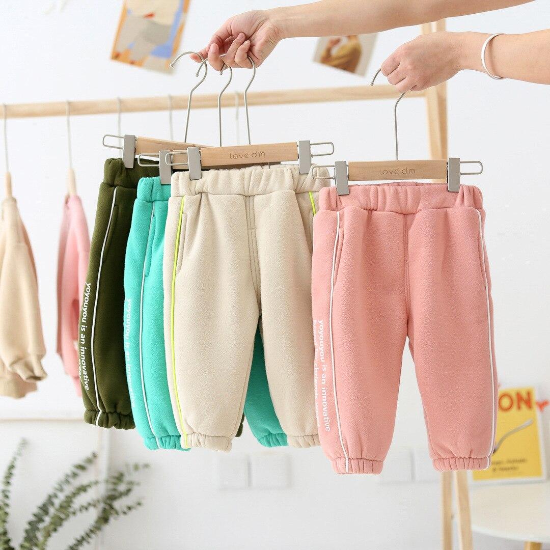 WLG/осенне-зимние штаны; однотонные зимние штаны для активного отдыха для детей 1-6 лет