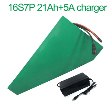 With 5A charger 60V 21Ah 16S7P 18650 Li-ion Battery electric two Three wheeled motorcycle bicycle  ebike 330*310*200*70*70*45mm