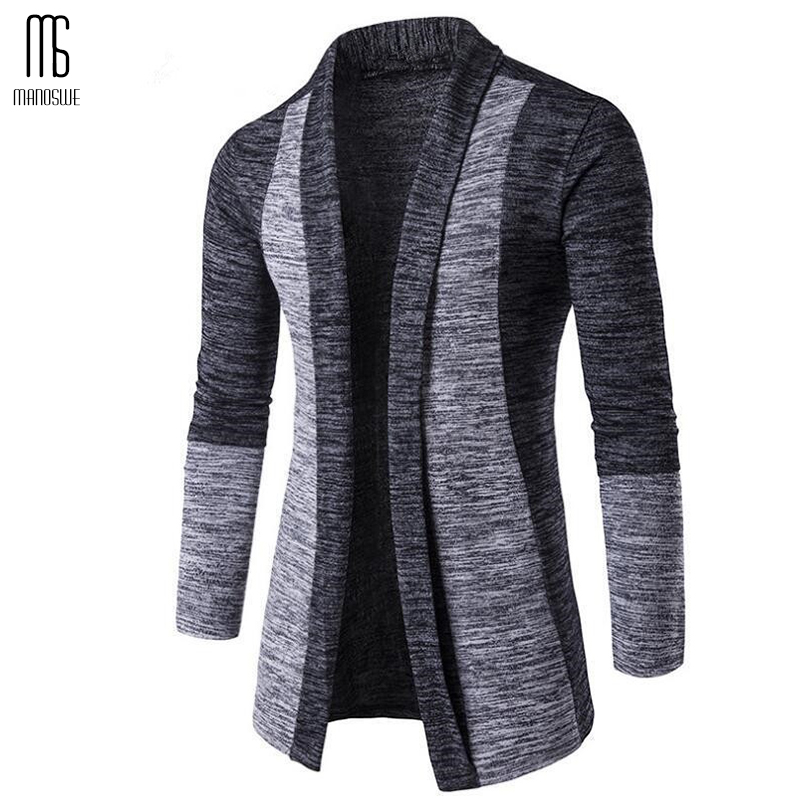 Manoswe Men's Autumn Winter Warm Cardigan Casual Slim Knitted Splice Sweater 2020 Sweater Jumper Men Large Size Clothes 4xl