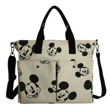 Tote-Bag Disney Canvas Hand-Minimalist Wild Shoulder College Large-Capacity Walking Students-To-Class